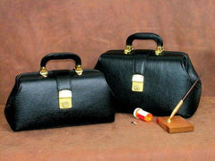 Intern/Student Physician Bag 16  Black Leather