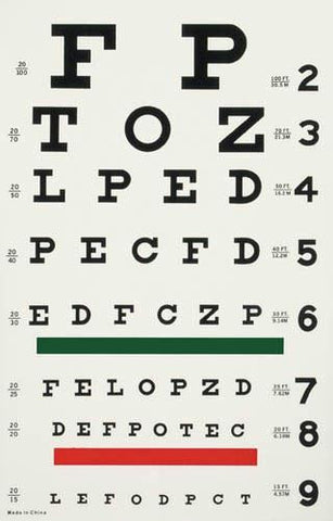 Picture of Illuminated Eye Chart-Snellen 20' Distance
