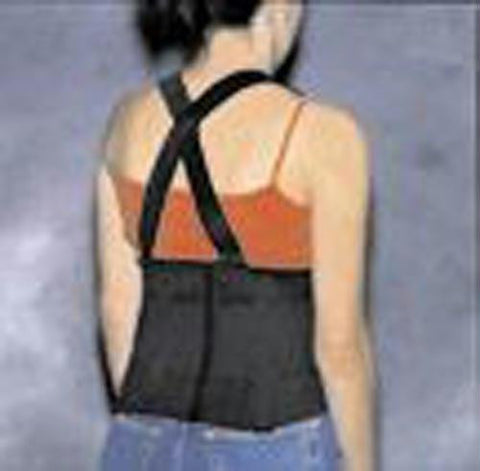 Picture of Back Support Industrial W/ Suspenders Med 33-38