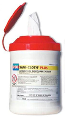 Picture of Sanicloth 'Plus' Classic Wipes 6  x 6.75  Tub/160