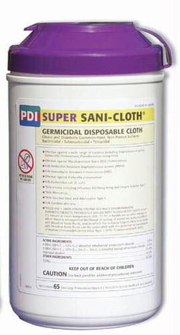 Picture of Sanicloth 'Super' Wipes XL 8  x 14  Tub/ 65