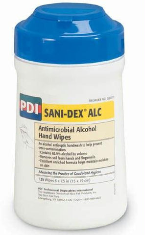 Picture of Sani-Dex Antimicrobial Hand Wipes-Tub/135