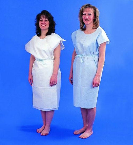 Picture of Paper Patient Exam Gowns- White Bx/50