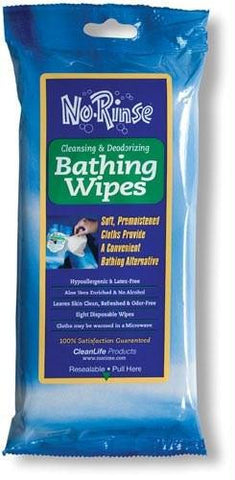 Picture of No Rinse Bathing Wipes Retail Package