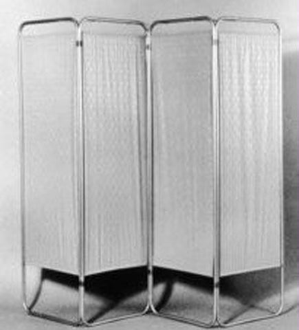 Picture of Four Panel Privacy Screen With Wheels
