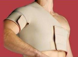 Picture of Thermoskin Single Shoulder Right  Medium  Beige