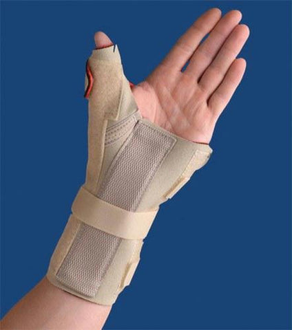 Picture of Carpal Tunnel Brace w/Thumb Spica  Left  Beige  Medium