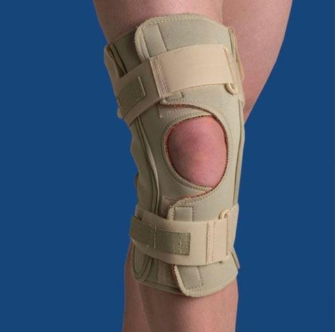 Picture of Hinged Knee Wrap Dual Pivot Beige Medium