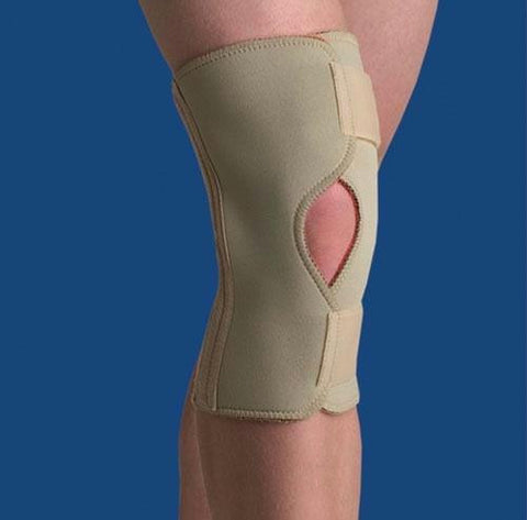 Picture of Thermoskin Open Knee Wrap Stabilizer  Beige  Large