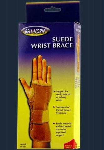 Picture of Wrist Brace w/Metal Stays Suede  Right  Large