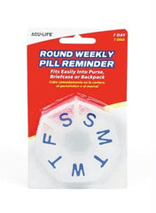 Round Weekly Pill Box Clear