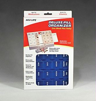 Picture of Deluxe Pill Organizer w/28 Com One Week Plus Today'