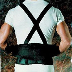 9  Back Belts With Suspenders Black Sportaid(Med-Lge)