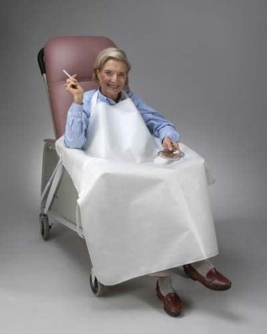 Picture of Geri-Chair Smoker's Apron White