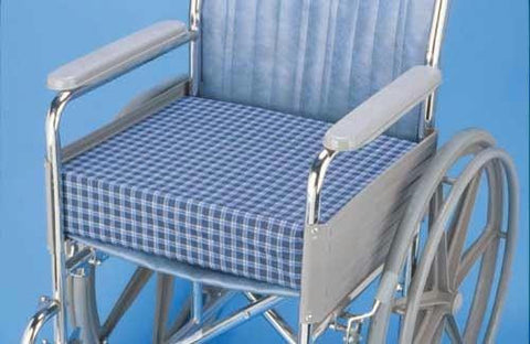 Picture of Wheelchair Cushion  Dual Foam Std & Memory 16 x18 x4  Plaid