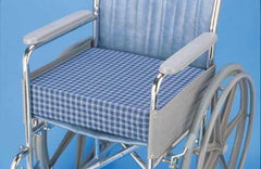 Wheelchair Cushion  Dual Foam Std & Memory 16 x18 x4  Plaid