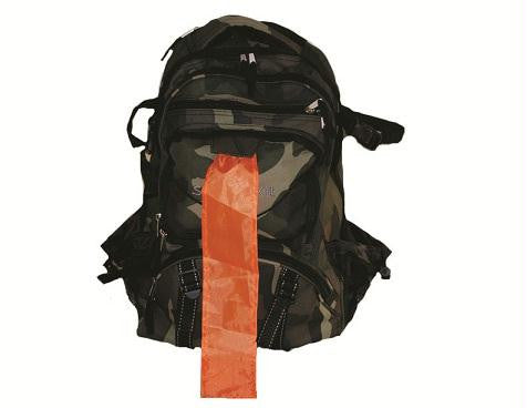Picture of Camo Backpack with Orange Pull-Out Flag