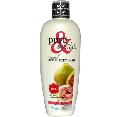 Picture of Pure and Basic Natural Bath and Body Wash Fresh Fig - 12 fl oz