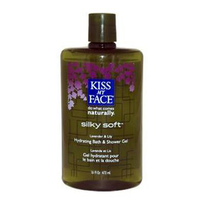 Picture of Kiss My Face Bath and Shower Gel Silky Soft Lavender and Lily - 16 fl oz
