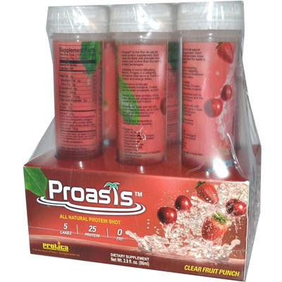 Picture of Protica Nutritional Research Proasis Clear Protein Shots - Fruit Punch - Case of 6 - 2.9 oz