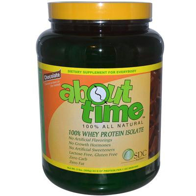 Picture of About Time Whey Protein Isolate Chocolate - 2 lbs