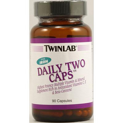 Picture of Twinlab Daily Two Caps with Iron - 90 Capsules