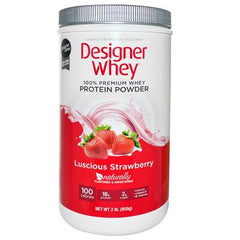 Designer Whey Protein Powder Strawberry - 2 lbs
