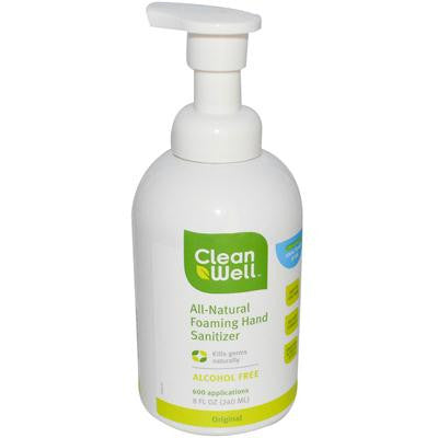 Picture of CleanWell All-Natural Foaming Hand Sanitizer - 8 oz