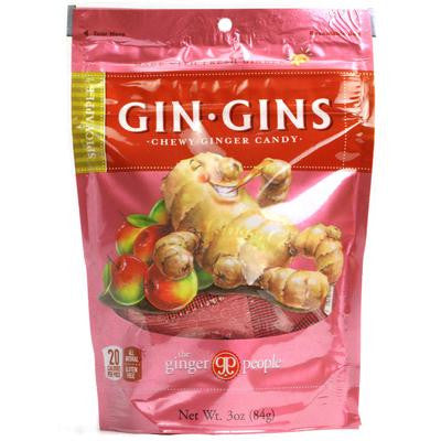 Picture of Ginger People Gin Gins Chewy Ginger Candy Spicy Apple - 3 oz - Case of 24