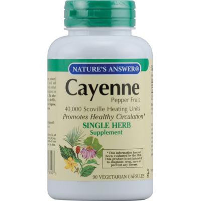 Picture of Nature's Answer Cayenne Pepper Fruit - 90 Vegetarian Capsules