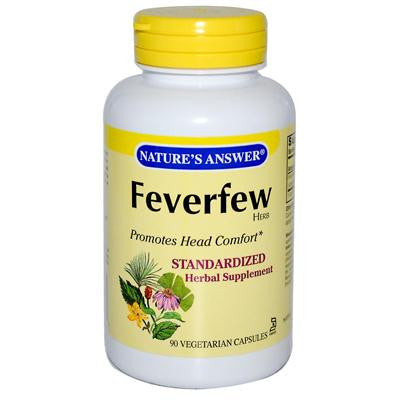 Picture of Nature's Answer Feverfew Herb - 90 Vegetarian Capsules
