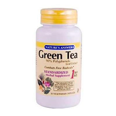Picture of Nature's Answer Green Tea Leaf Extract - 30 Vegetarian Capsules