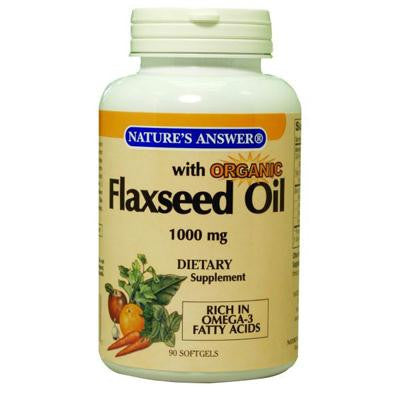 Picture of Nature's Answer Flaxseed Oil - 1000 Mg - 90 Softgels