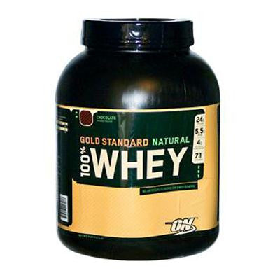 Picture of Optimum Nutrition Gold Standard Natural 100% Whey Chocolate - 5 lbs