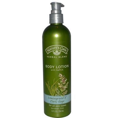 Picture of Nature's Gate Lemongrass and Clary Sage Body Lotion - 12 oz