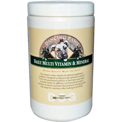 Picture of Dancing Paws Daily Multi Vitamin and Mineral For Dogs - 180 Chewable Wafers