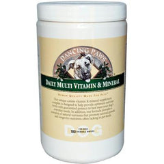 Dancing Paws Daily Multi Vitamin and Mineral For Dogs - 180 Chewable Wafers