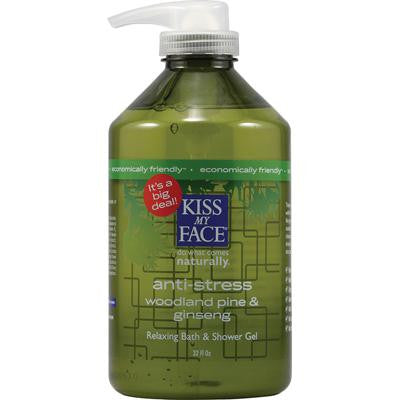 Picture of Kiss My Face Bath and Shower Gel Anti-stress Woodland Pine and Ginseng - 32 fl oz