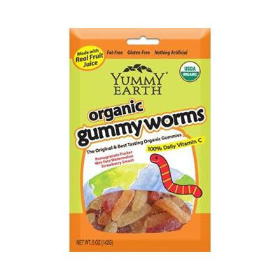 Picture of Yummy Earth Organic Gummy Worms - Sour - Case of 12 - 5 oz