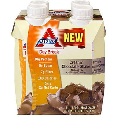 Picture of Atkins Day Break Shake - Creamy Chocolate - 4/11 oz
