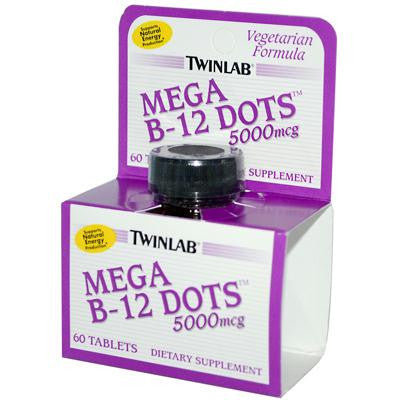 Picture of Twinlab Mega B-12 Dots - 5000 mcg - 60 Tablets