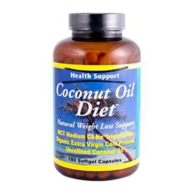Picture of Health Support Coconut Oil Diet - 180 Softgel Capsules