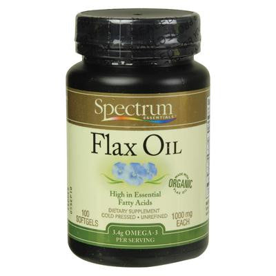 Picture of Spectrum Essentials Organic Flax Oil - 100 Softgels