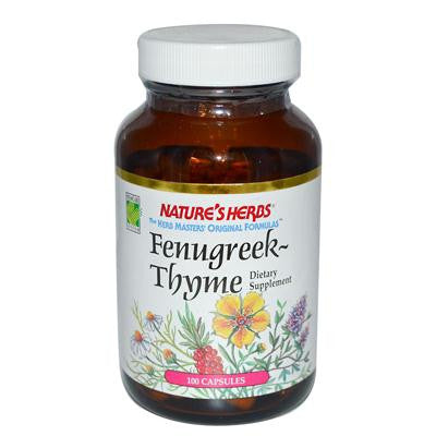 Picture of Nature's Herbs Fenugreek Thyme Combo - 505 mg - 100 Capsules