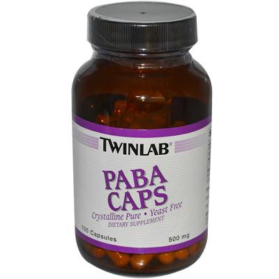 Picture of Twinlab PABA Caps - 500 mg - 100 Capsules