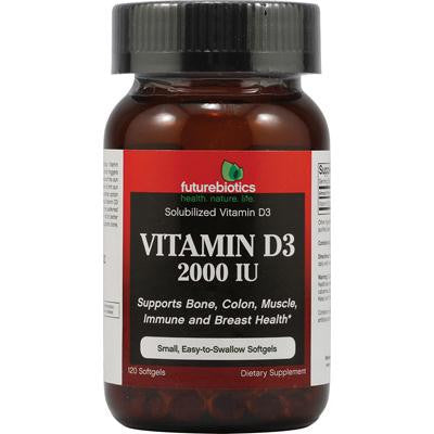 Picture of FutureBiotics Vitamin D3 - 2000 IU - 120 Softgels