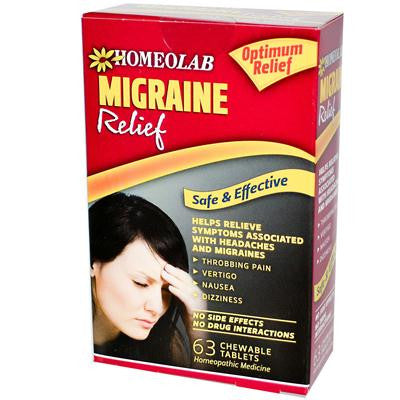 Picture of Homeolab USA Migrane Relief - 63 Tablets