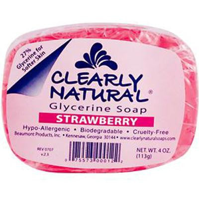 Picture of Clearly Natural Glycerine Soap Bar - Strawberry - 4 oz