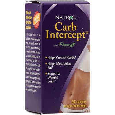 Picture of Natrol Carb Intercept with Phase 2 Starch Neutralizer - 60 Capsules