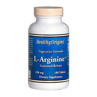 Picture of Healthy Origins L-Arginine Sustained Release - 350 mg - 180 Tablets